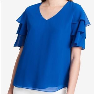 Stunning Cobalt Blue Calvin Klein Blouse